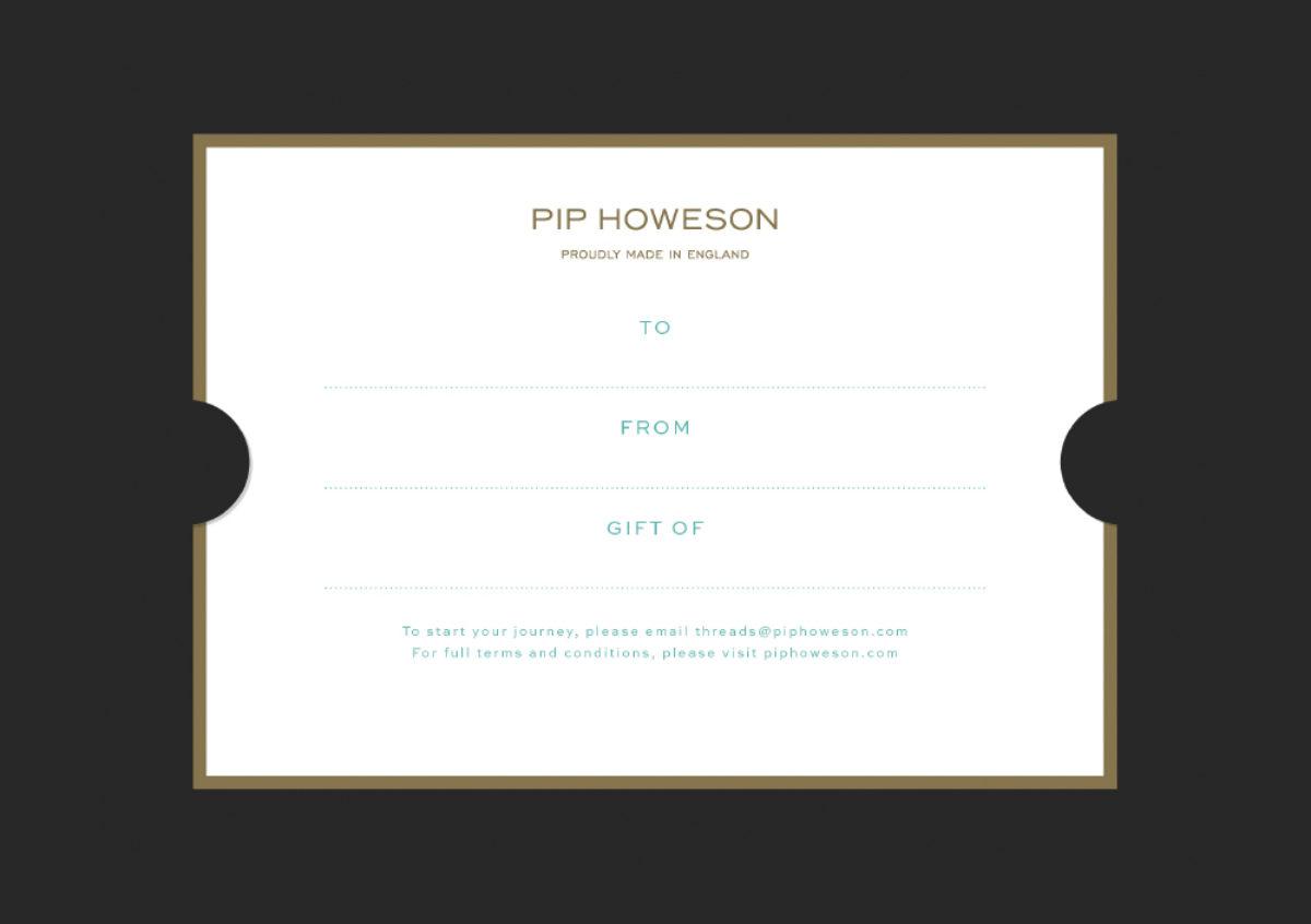 Pip Howeson Gift Voucher Slip Reverse
