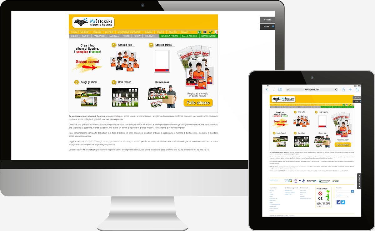 MyStickers: E-commerce, Web apps