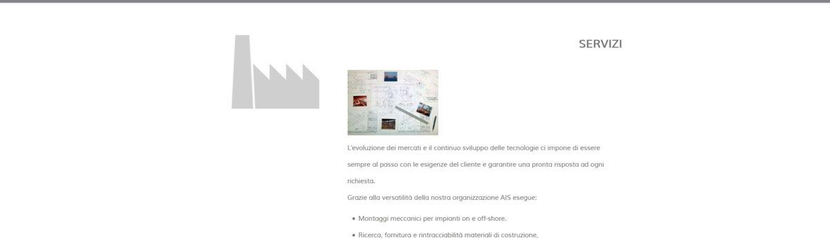 Showcase websites: alternative view 2. Ais S.r.l.