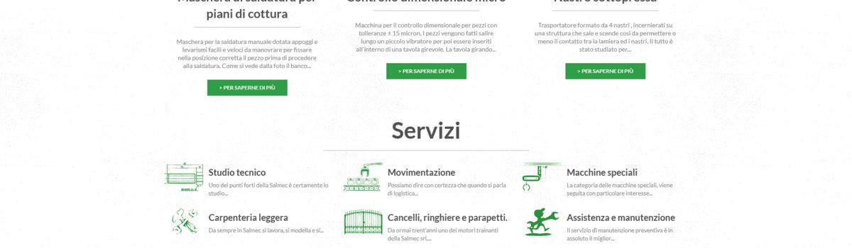 Showcase websites: alternative view 2. Salmec