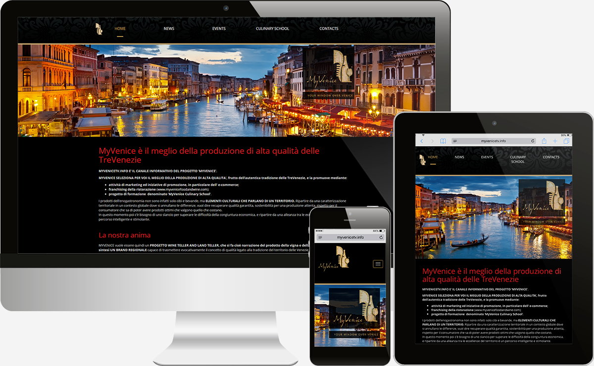 MyVenice Tv: Showcase websites