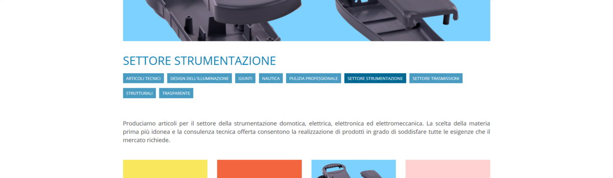 Sito Vetrina: vista alternativa 2. Articagroup