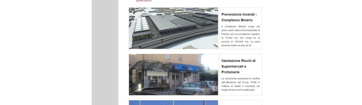 Showcase websites: alternative view 2. Arcingegneria