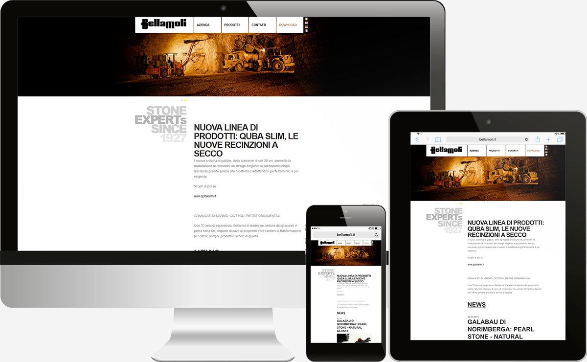 Bellamoli Granulati: Sito Vetrina, Web application