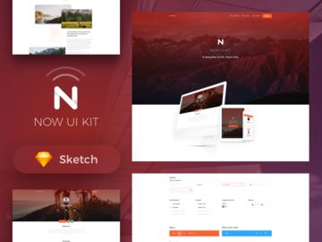 Now web ui kit free card thumbnail