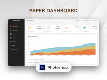 Paper dashboard kit free card thumbnail
