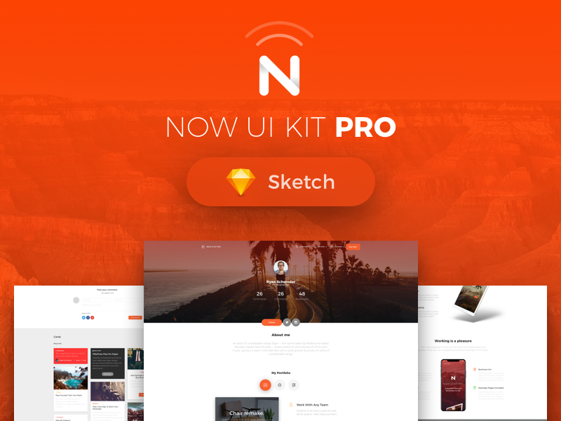 Now web ui kit pro card thumbnail