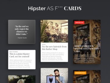 Hipster cards small