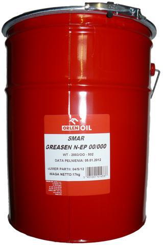 ORLEN OIL GREASEN N-EP 00/000  DO CENTRALNEGO SMAROWANIA H 17KG