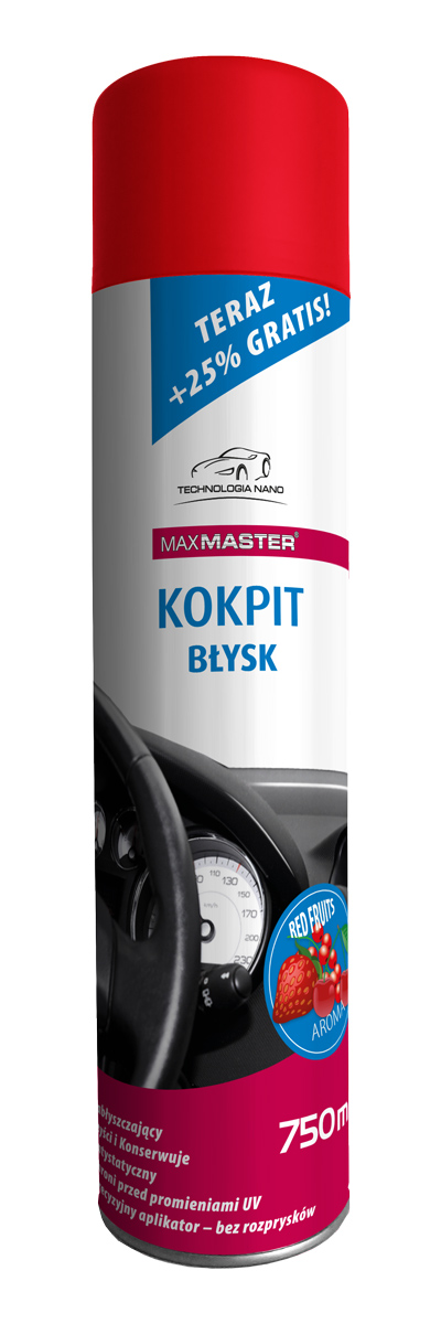 MAXMASTER NANO KOKPIT RED FRUITS 750ML BŁYSK