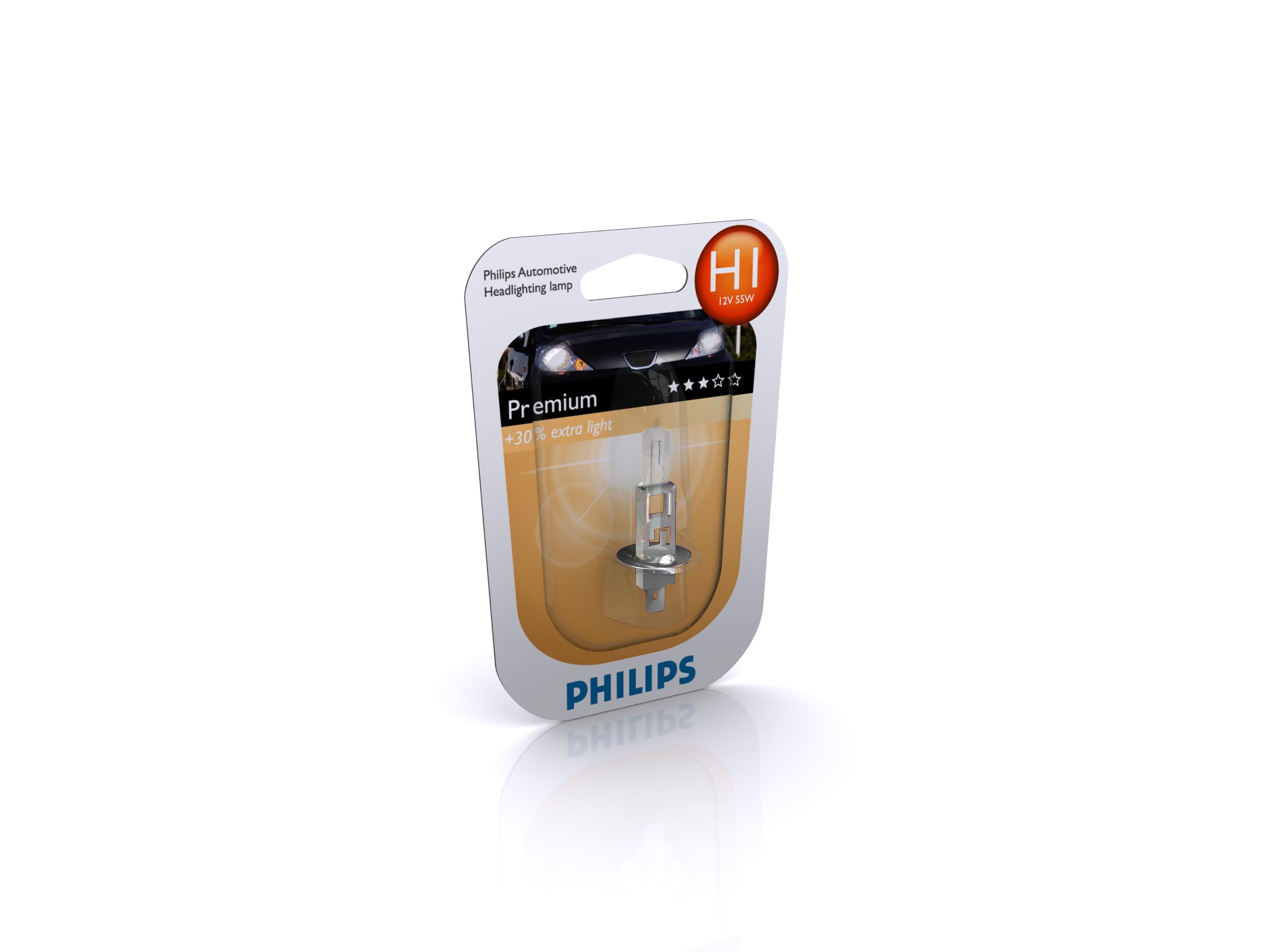 PHILIPS 12258PRC1 H1 12V 55W P14,5S PREMIUM +30%