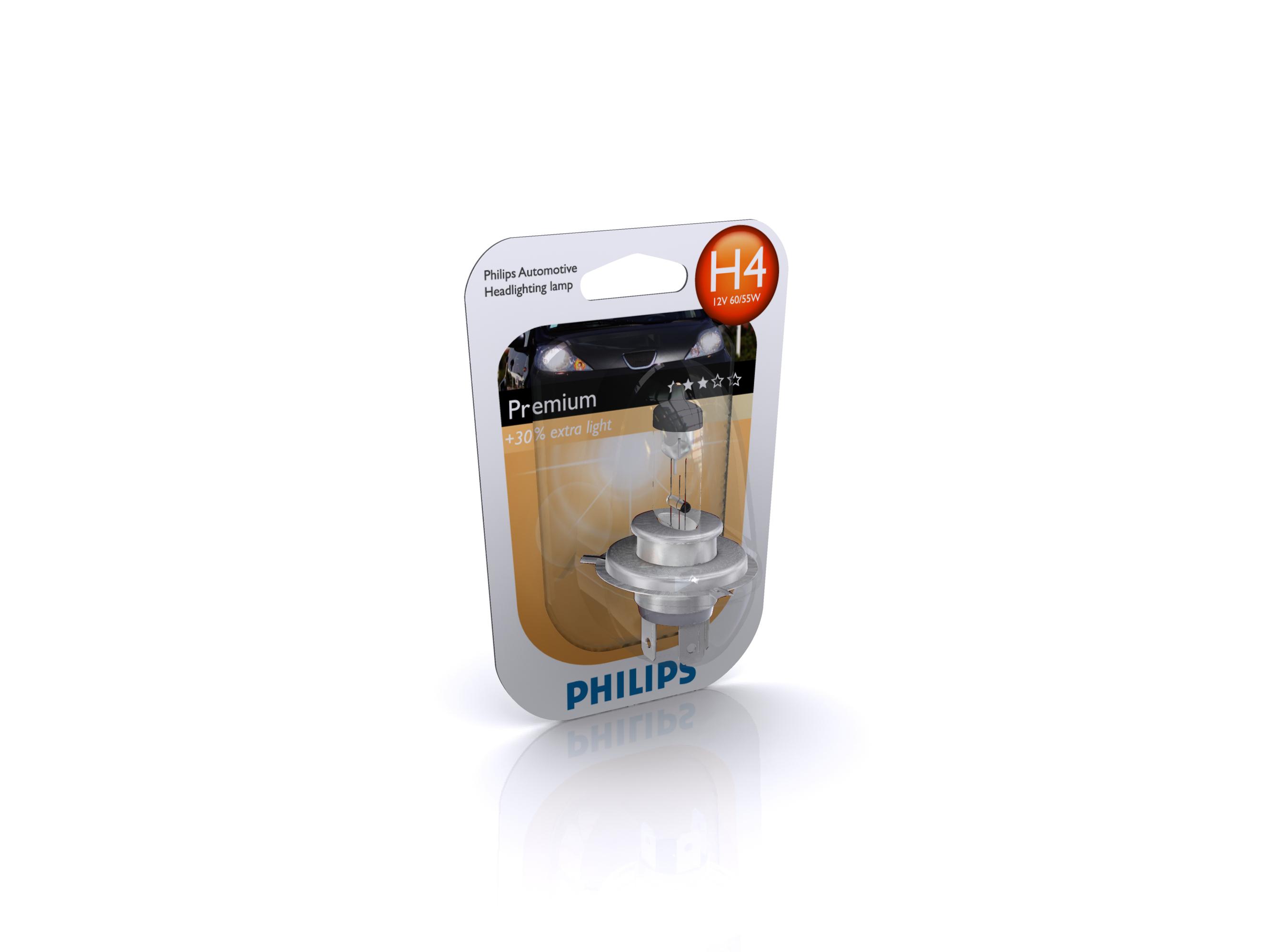 PHILIPS 12342PRC1 H4 12V 60/55W P43T PREMIUM + 30%