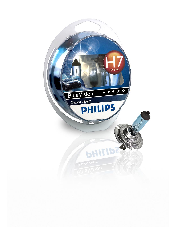 PHILIPS 12972BVUSM H7 12V 55W PX26D BLUE VISION 2 SZT