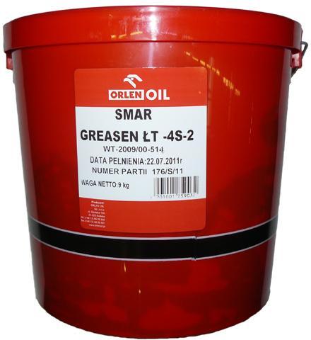 ORLEN OIL GREASEN ŁT-4 S-2   P 9KG