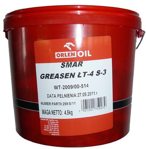 ORLEN OIL GREASEN ŁT-4 S-3   P 4,5KG
