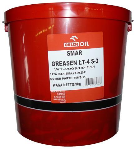 ORLEN OIL GREASEN ŁT-4 S-3   P 9KG
