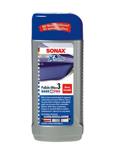 SONAX 202 100  XTREME WOSK POLISH&WAX 3 NANO PRO 250ML
