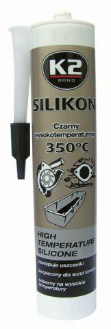 K2 SILIKON CZARNY KARTUSZ 300ML +350C B200