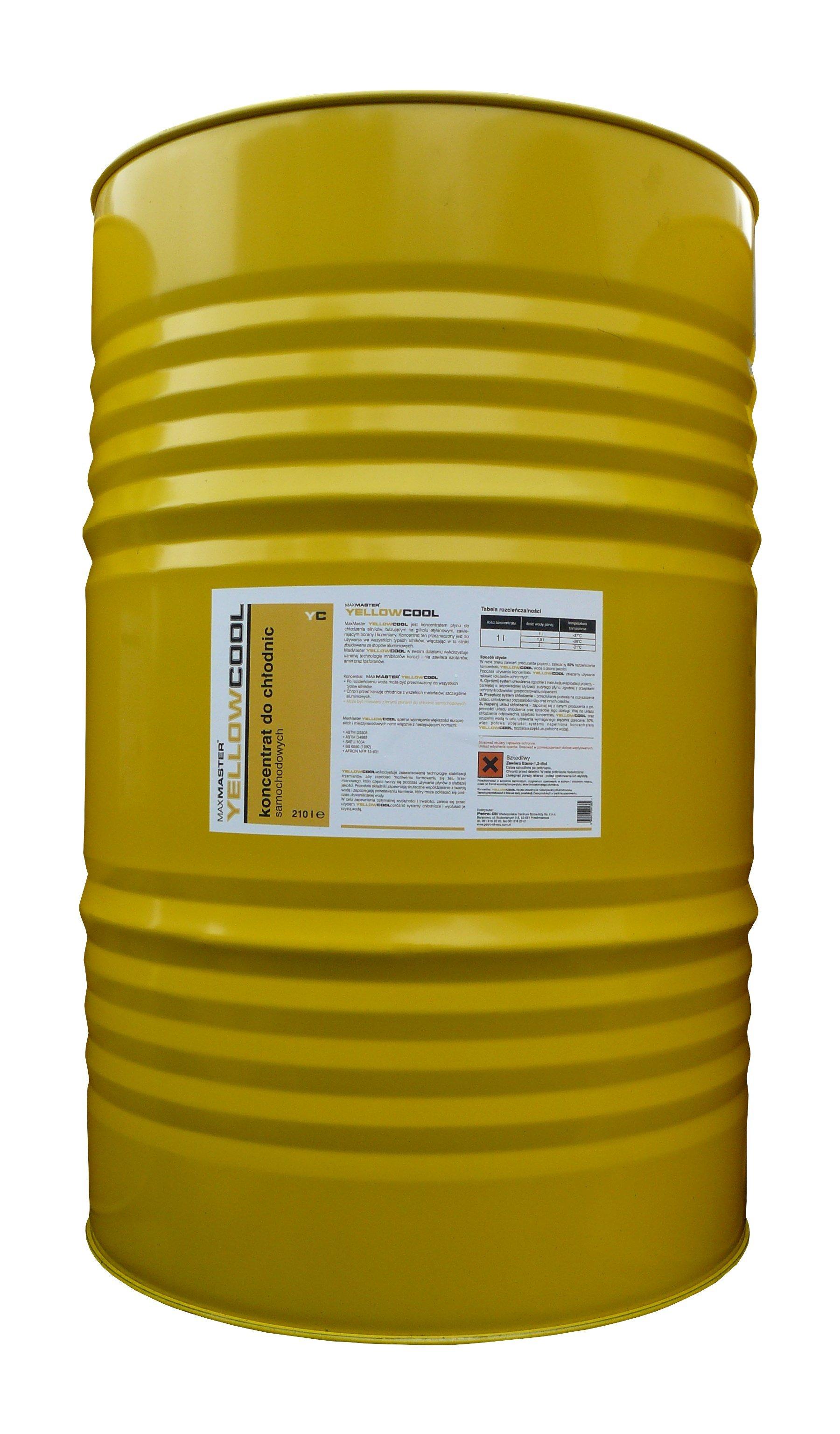 MAXMASTER YELLOWCOOL KONCENTRAT DO CHŁODNIC żółty  60L