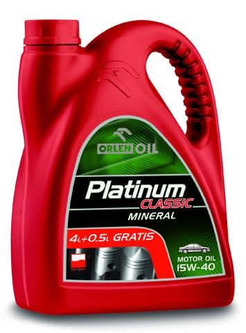 PLATINUM CLASSIC MINERAL 15W/40  4,5L