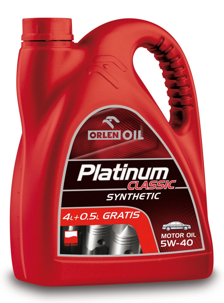 PLATINUM CLASSIC SYNTHETIC 5W/40  4,5L