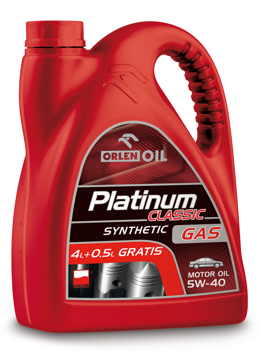 PLATINUM CLASSIC GAS SYNTHETIC 5W/40   4,5L