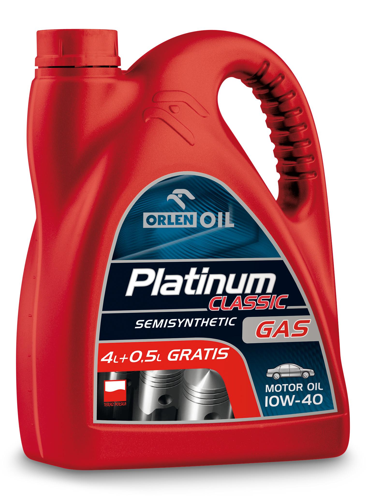 PLATINUM CLASSIC GAS SEMISYNTHETIC 10W/40   4,5L