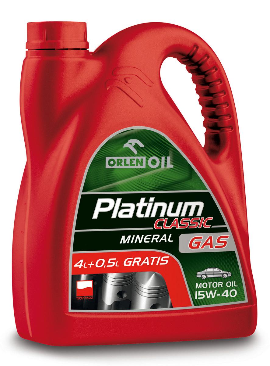 PLATINUM CLASSIC GAS MINERAL 15W/40    4,5L
