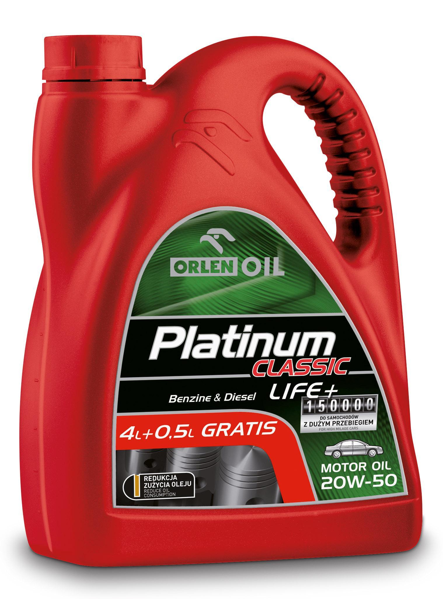 PLATINUM CLASSIC LIFE+ 20W/50   4,5L