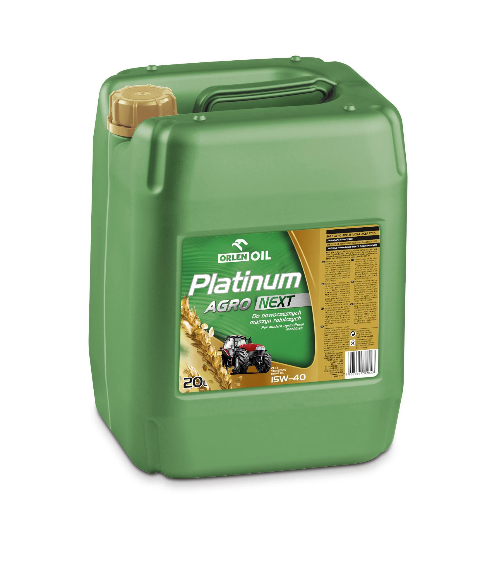 PLATINUM AGRO NEXT 15W/40   KP 20L