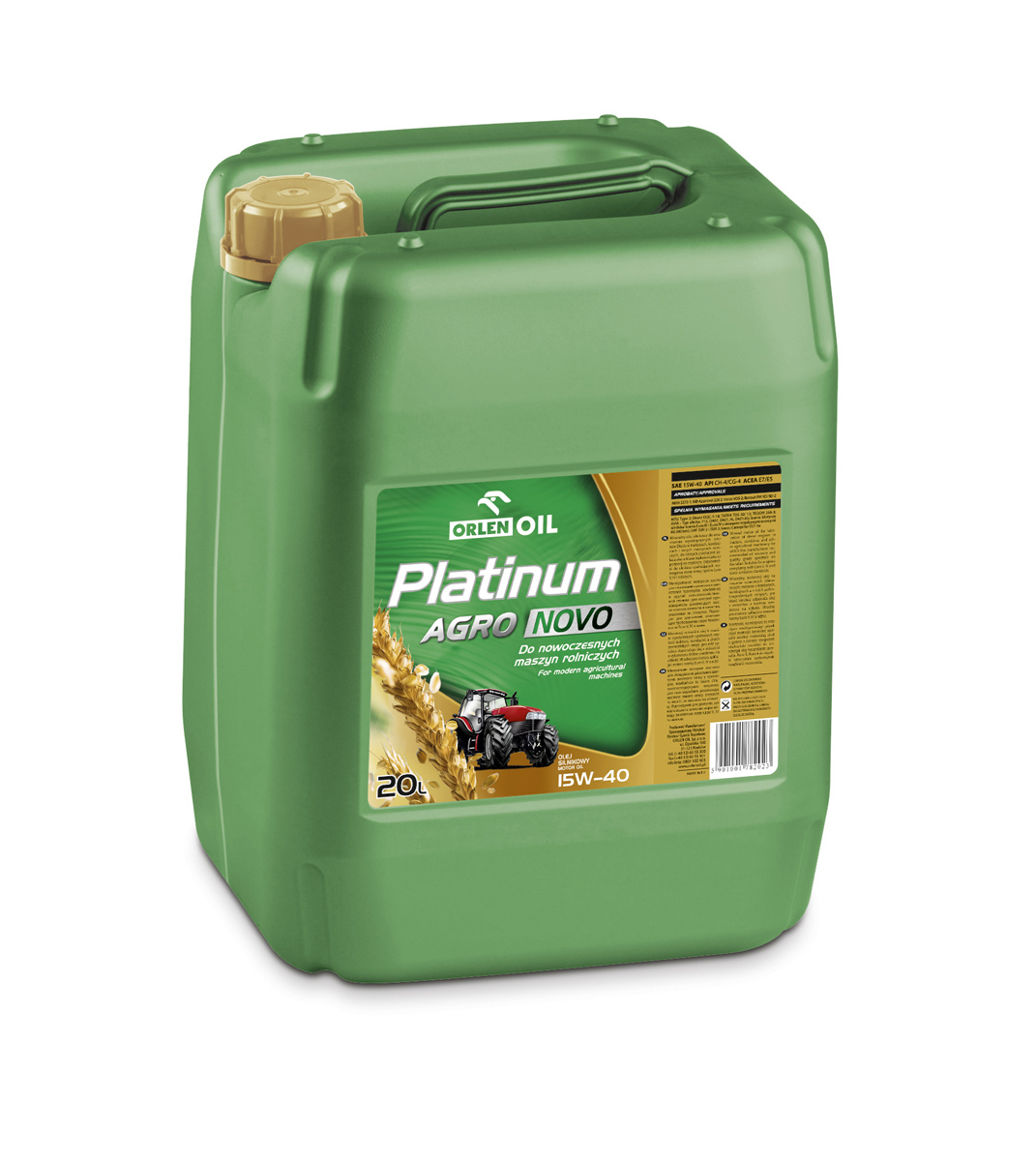 PLATINUM AGRO NOVO 15W-40 20L