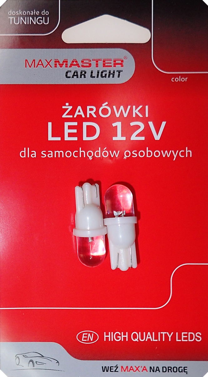 MAXMASTER CAR LED T10 12V WHITE 2SZT
