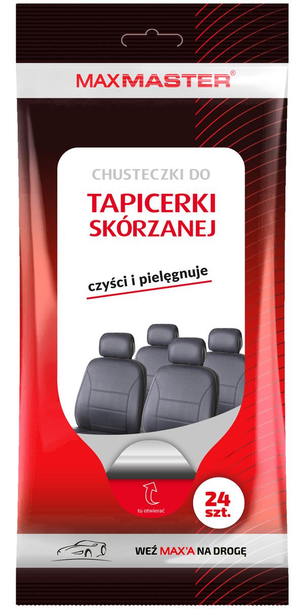 MAXMASTER CHUSTECZKI WILGOTNE DO TAPICERKI SKÓRZANEJ 24szt.