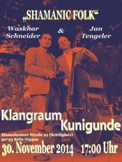Sonntagskonzert im Klangraum-Kunigunde mit Duo Waskhar Schneider & Jan Tengeler