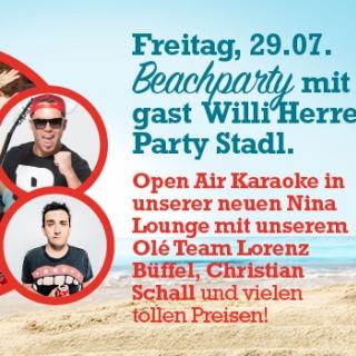 Beachparty mit Stargast Willi Herren im Party Stadl!