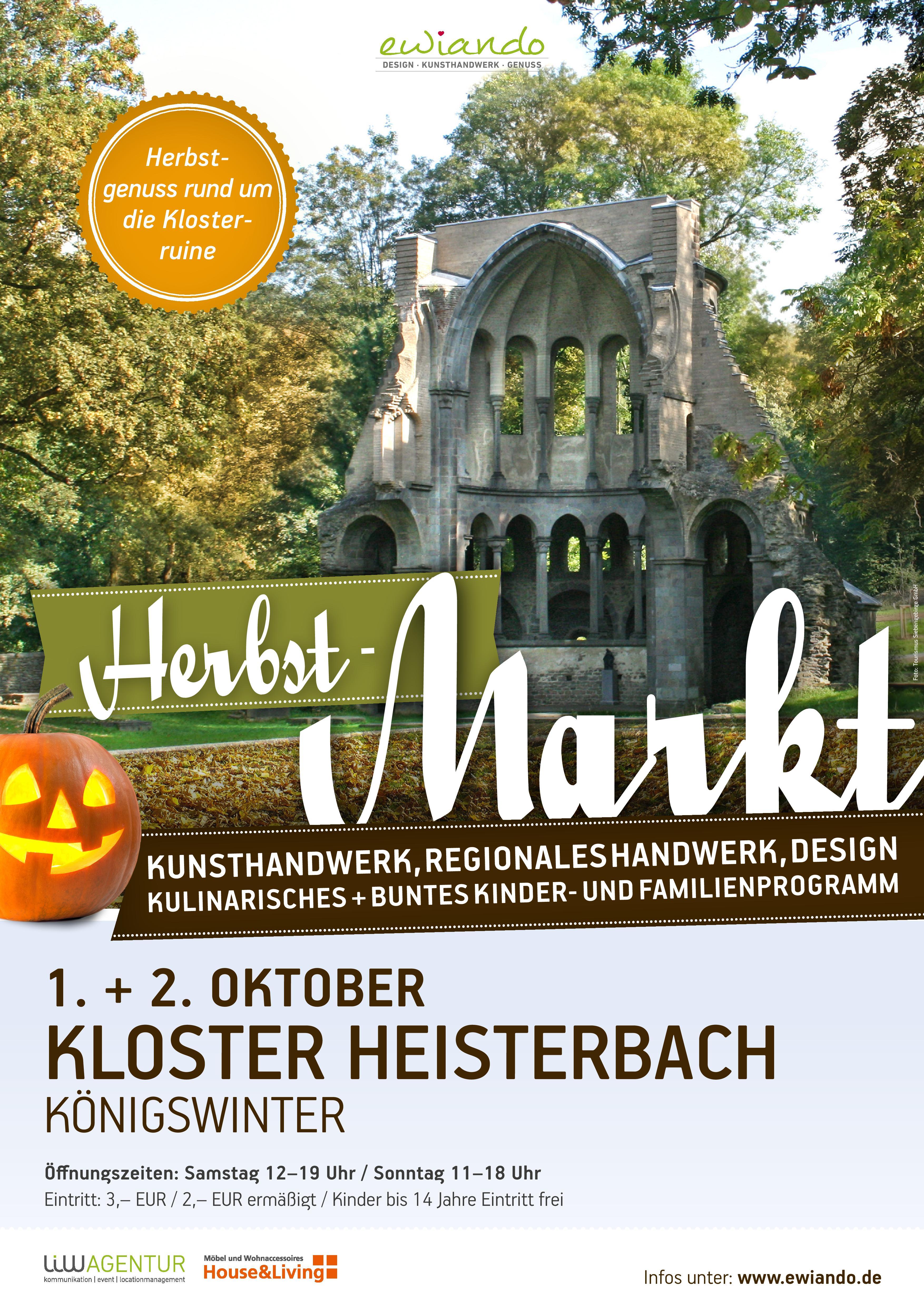 herbstmarkt auf kloster heisterbach in k nigswinter am kloster heisterbach. Black Bedroom Furniture Sets. Home Design Ideas