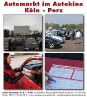 gebrauchtwagenmarkt im autokino k ln porz in k ln am drive in autokino. Black Bedroom Furniture Sets. Home Design Ideas