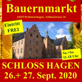 Herbst und Bauernmarkt auf Schloss Hagen bei Kiel