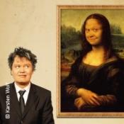 Geölter Witz: Im Rahmen Der Mona Lisa