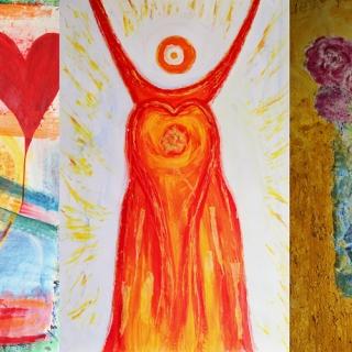 """Ausstellung und Vernissage """"Auf die Liebe und das Leben"""": Ausdrucksmalerei im ViaCafélier"""