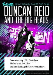 Duncan Reid & the Big Heads - Heavy Melody Punk Rock live