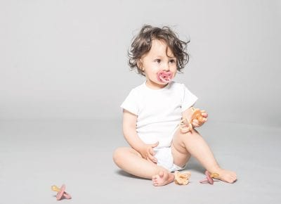 HEVEA just added colour to their plastic-free pacifiers
