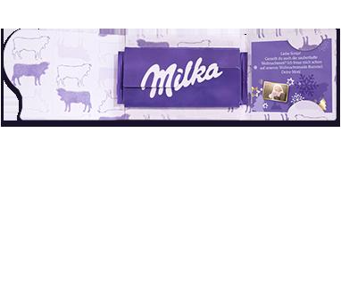Schokolade mit Grußkarte