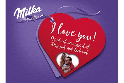 I love Milka 110g zum Valentinstag