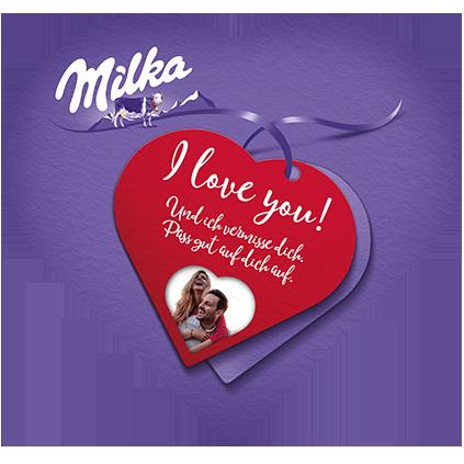 I love Milka 165g zum Valentinstag