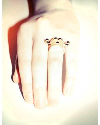 Golden Moustache Ring