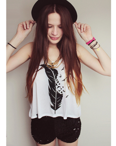 Feather & Birds Top