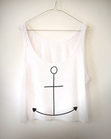 Anchor Crooped Top