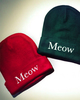Meow beanie red green