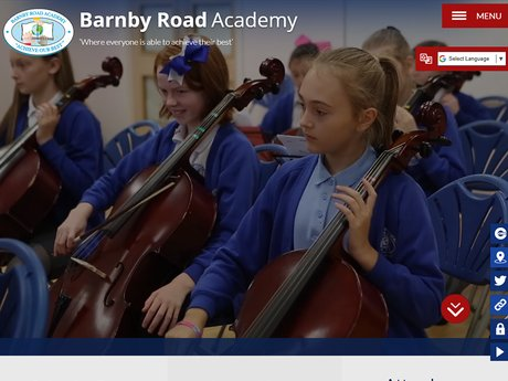 Barnby Road Academy Website Design